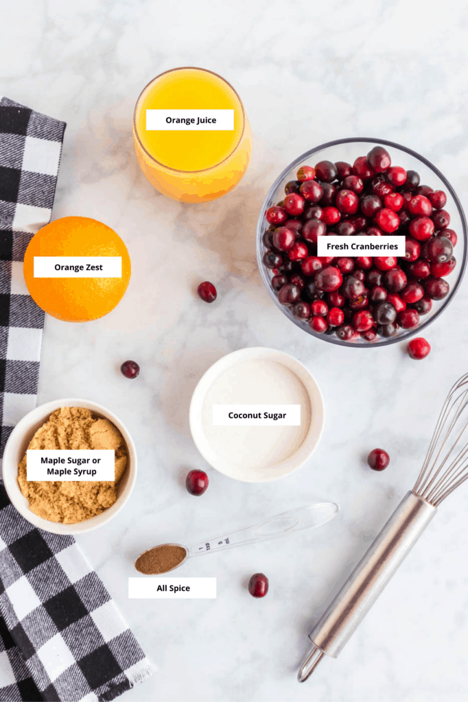 healthy cranberry sauce ingredients