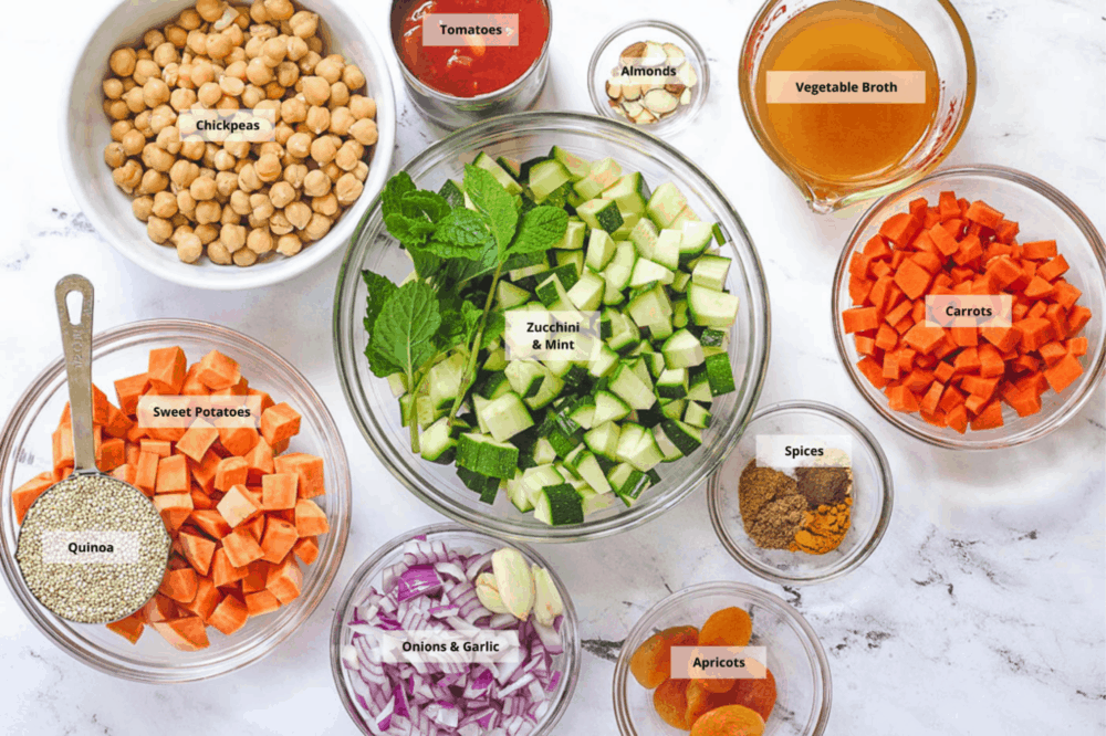 ingredients for moroccan stew
