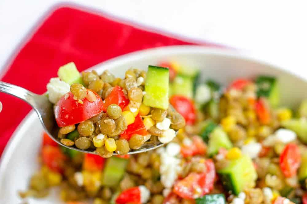 forkful of salad