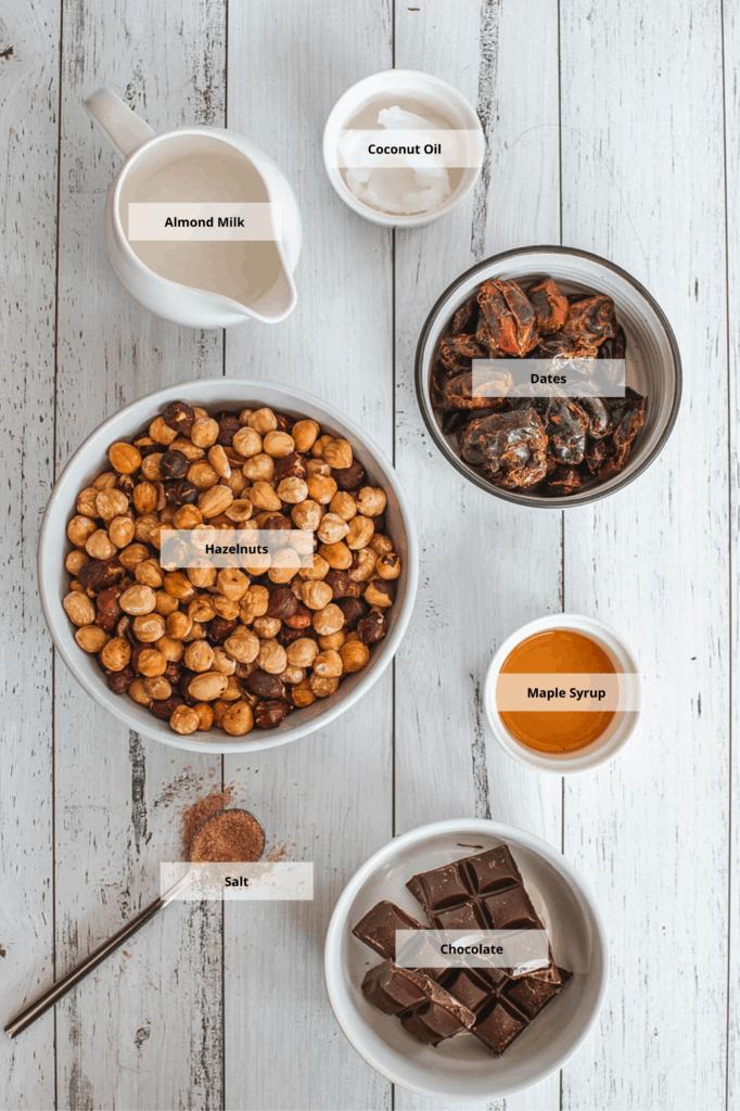 ingredients for vegan nutella