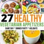 vegetarian appetizers collage