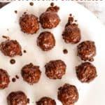 ferrero rocher chocolates on white plate