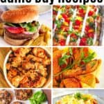 healthy game day recipes collage
