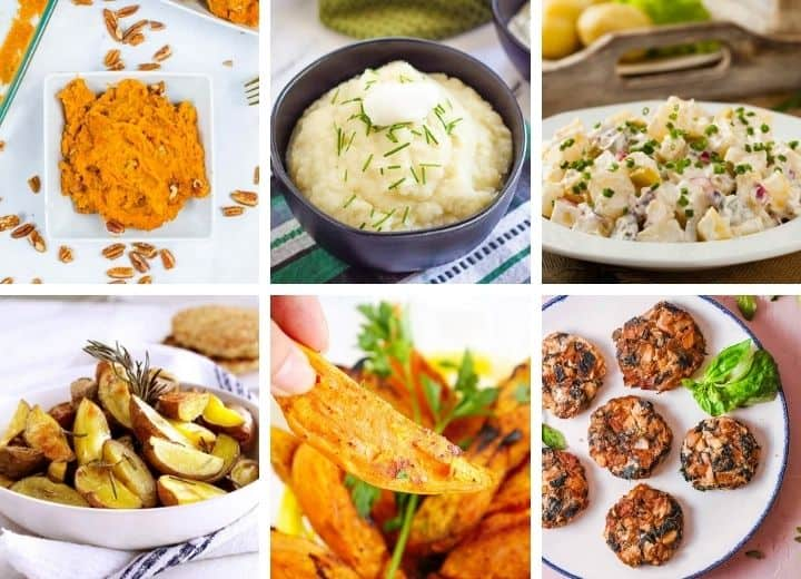 collage of healthy side dishes