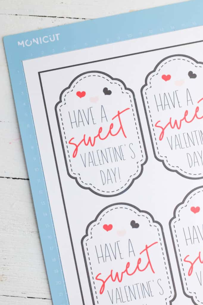 handmade valentines day tags on cardstock