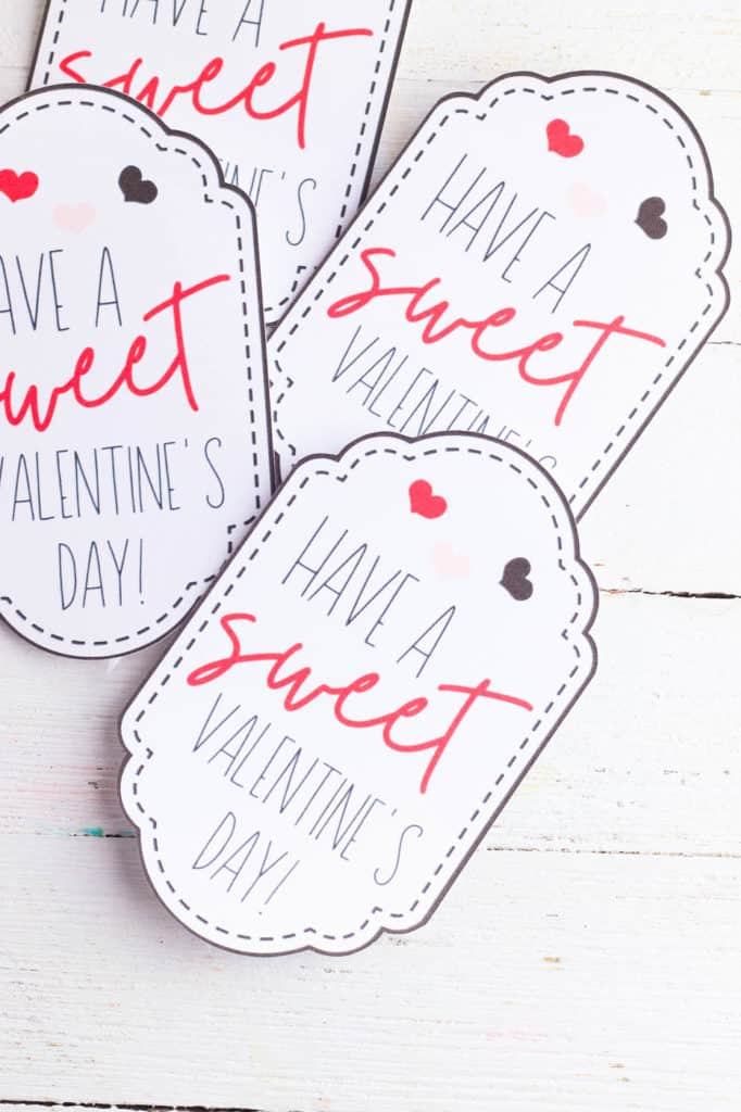 handmade valentines day tags on cardstock, cut out