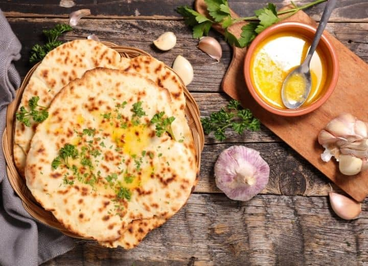 photo of naan with ghee