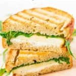 goat cheese grilled cheese with pear and arugula