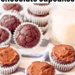 healthy chocolate cupcakes with avocado frosting