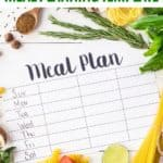 meal plan template surrounded by produce