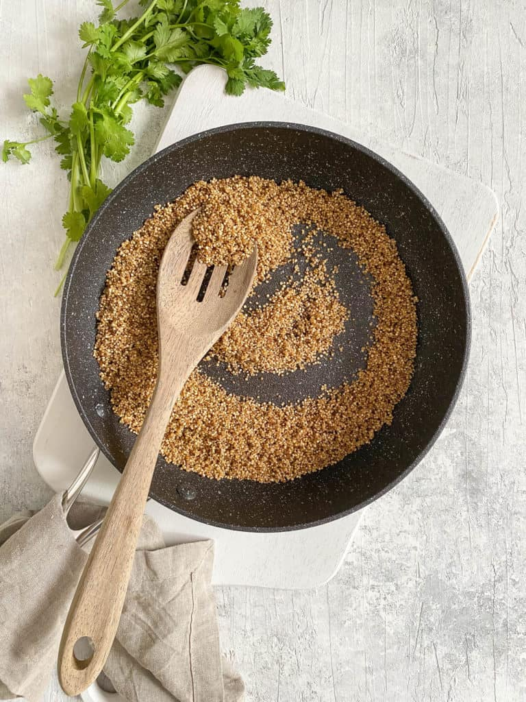 quinoa in a pot