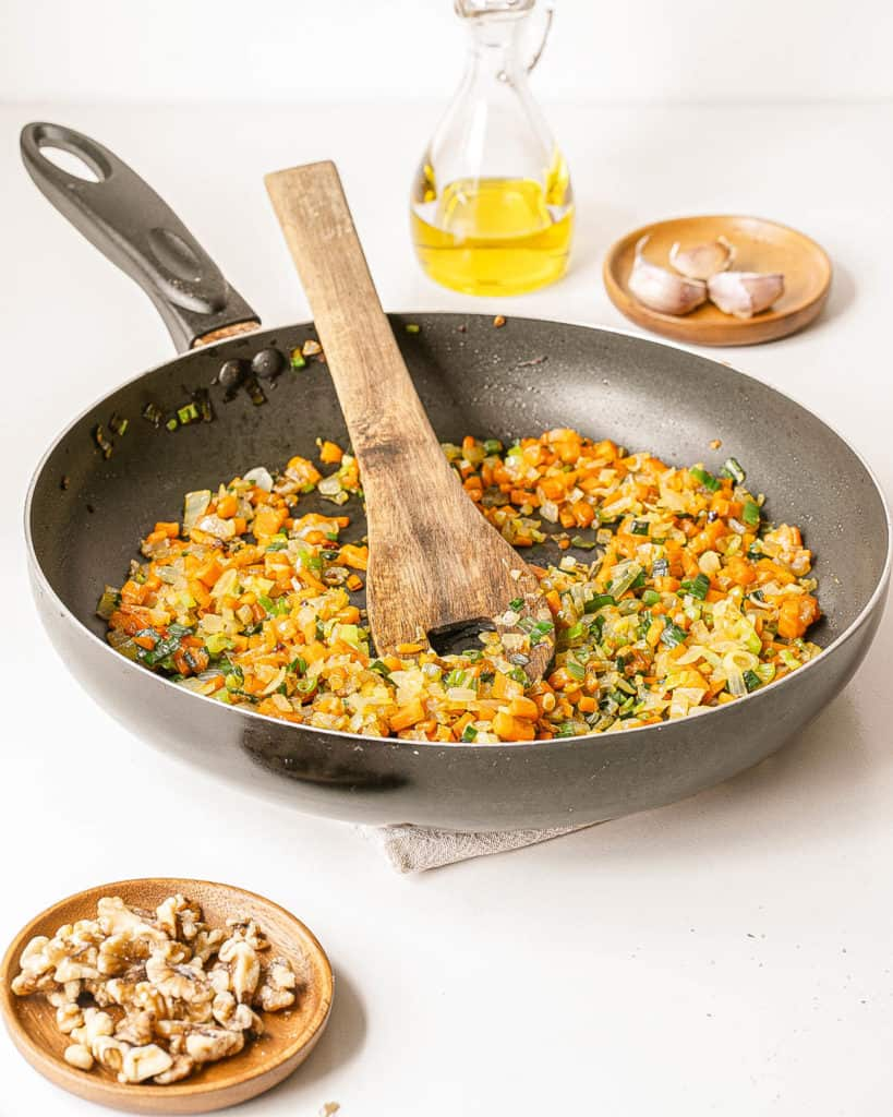 other veggies and spices added to pan