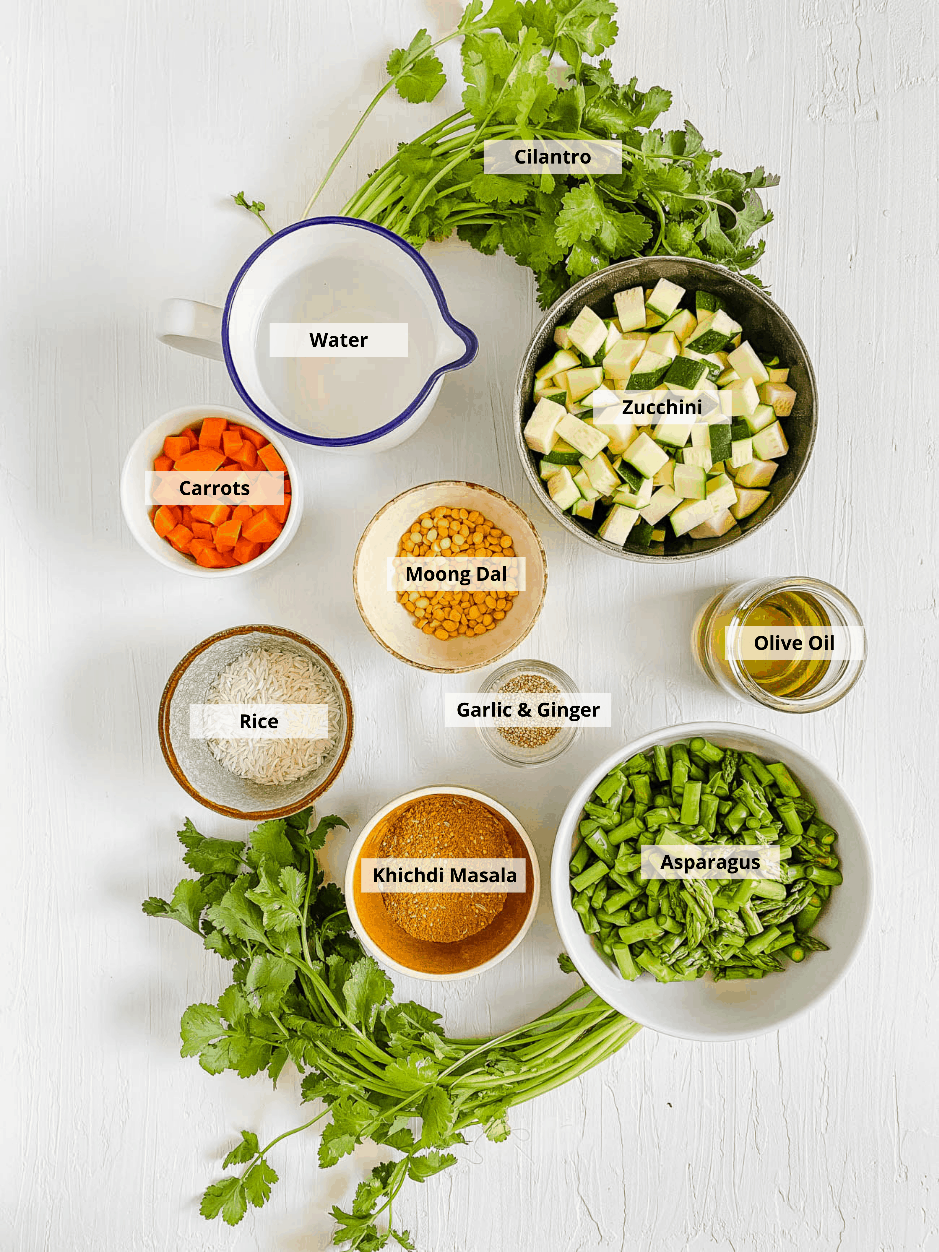 ingredients for indian fried rice