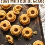 mini bundt cakes on baking sheet