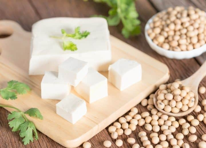 tofu cube, and dried beans