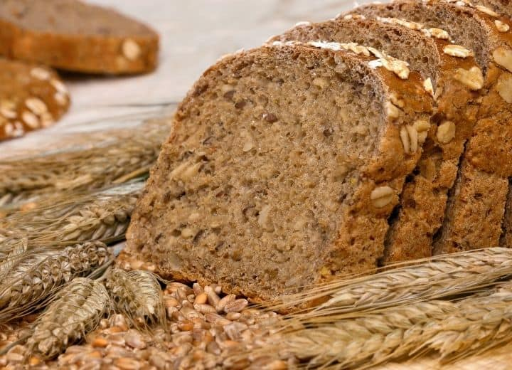 whole wheat bread - included on a vegetarian grocery list