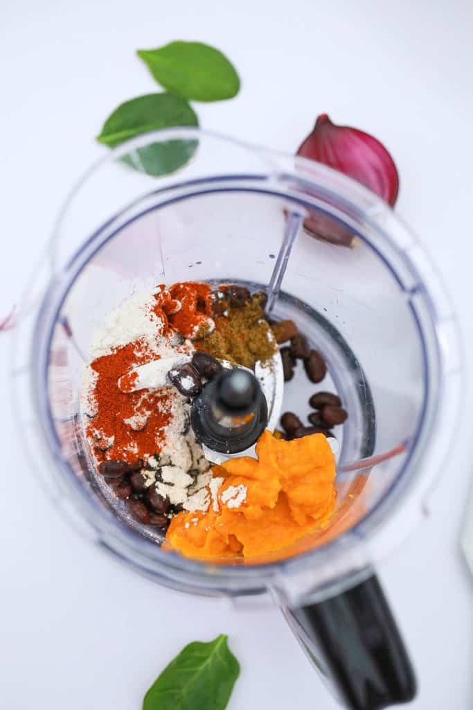 ingredients added to blender