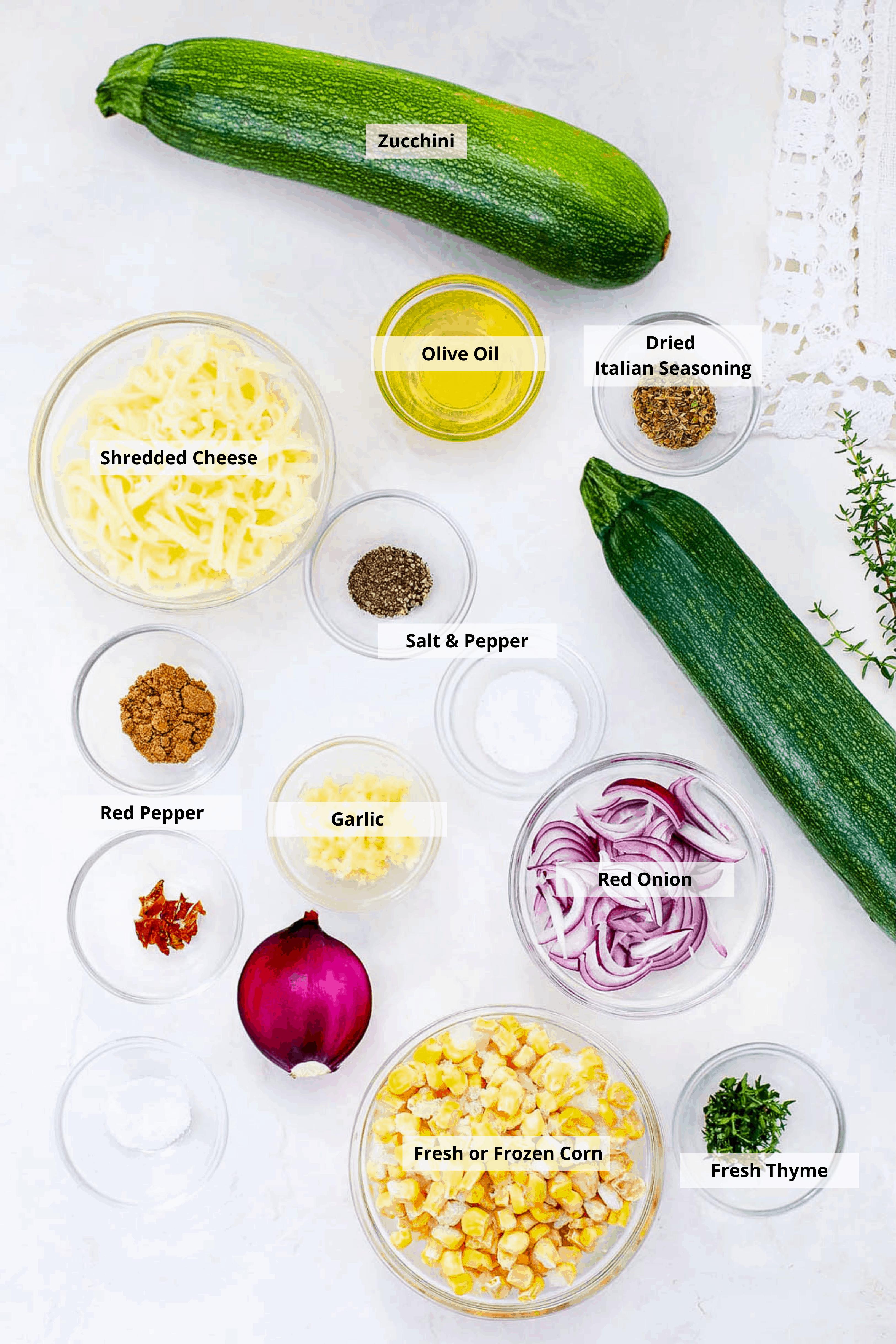 ingredients for corn flatbread
