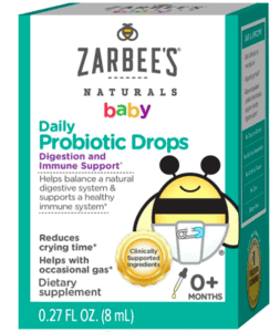box of Zarbees probiotic for infants
