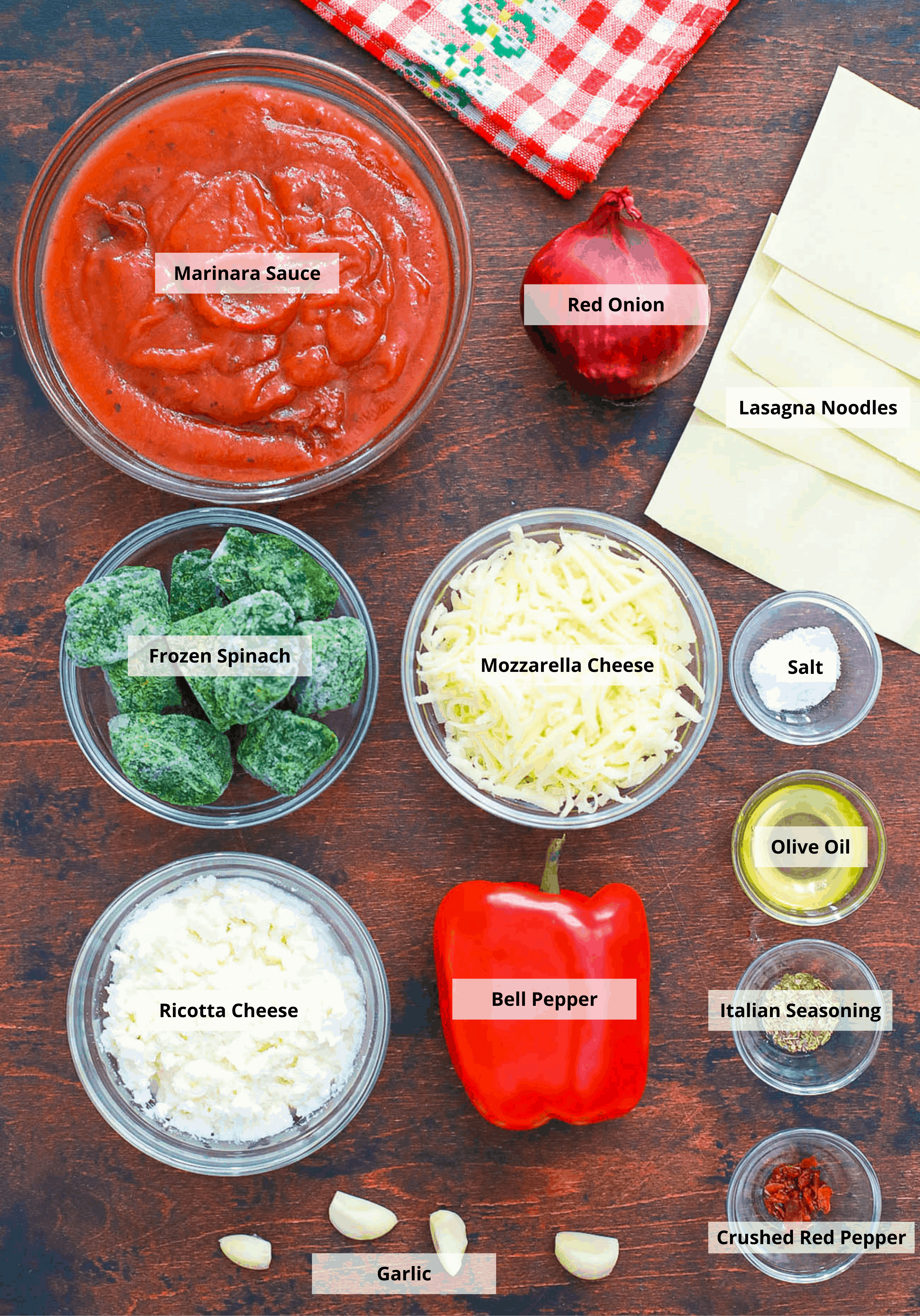 ingredients for pasta roll ups