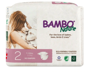 package of bamboo nature diapers