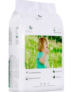 package of eco boom baby bamboo diapers