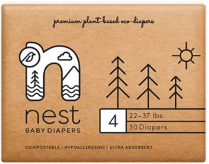 package of Nest baby diapers