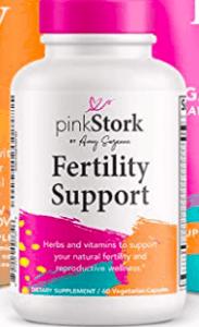 pink stork fertility support bottle