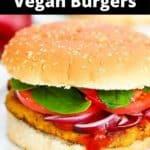 southwestern veggie burger on plate