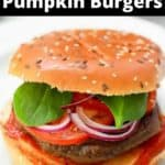 pumpkin burgers served with lettuce and tomato