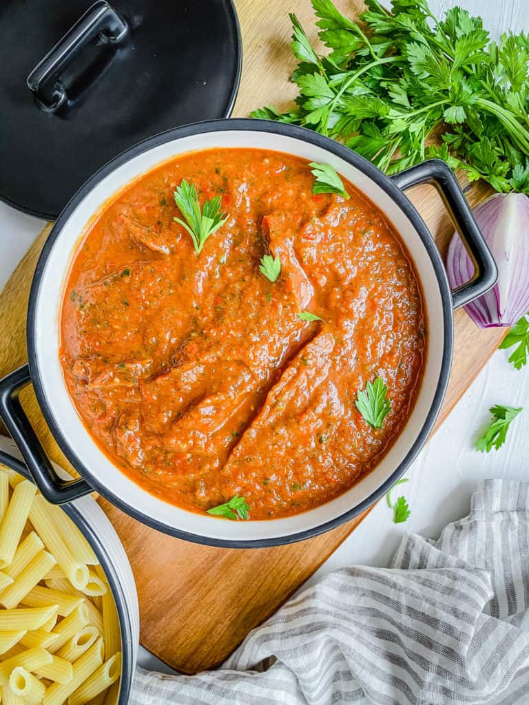 red sauce in a bowl