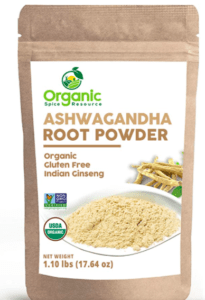 Organic Ashwagandha powder package