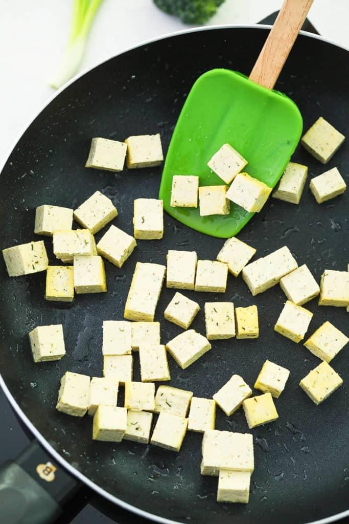 tofu in a pan
