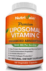 nutrivein liposomal vitamin C bottle