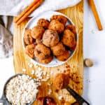 date balls on a white platter