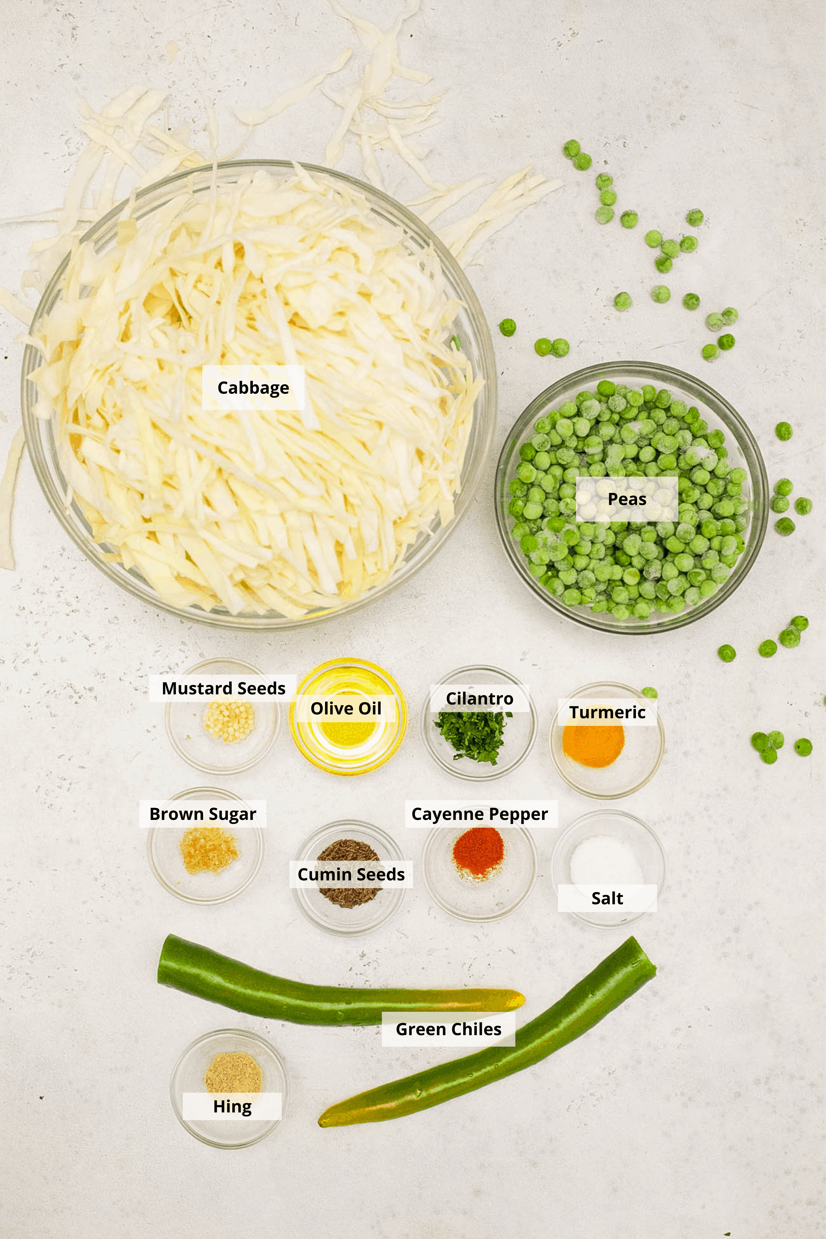 ingredients for indian cabbage