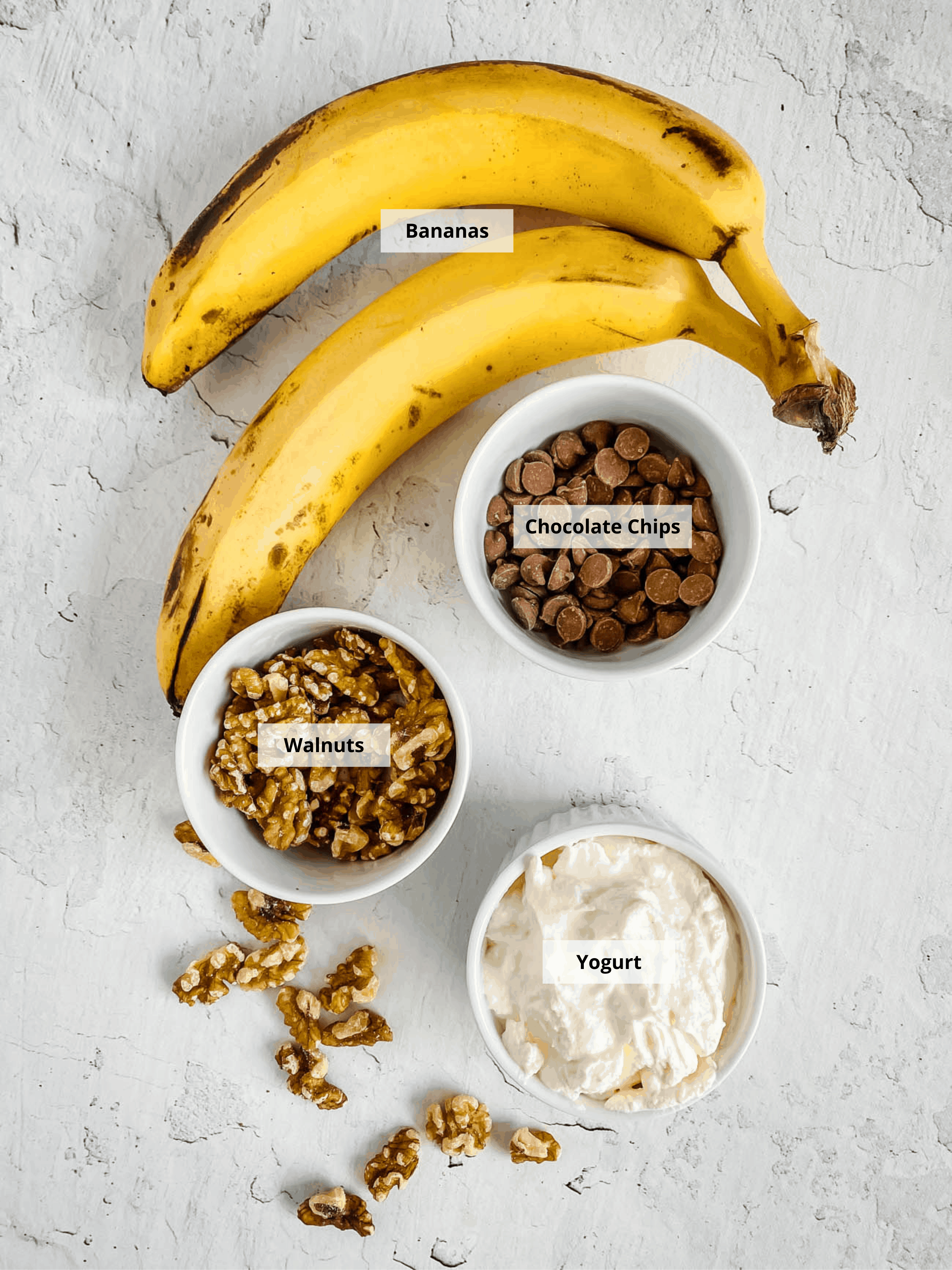 ingredients for healthy Chocolate Banana Ice Cream Recipe