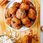 bowl of date and chocolate energy balls