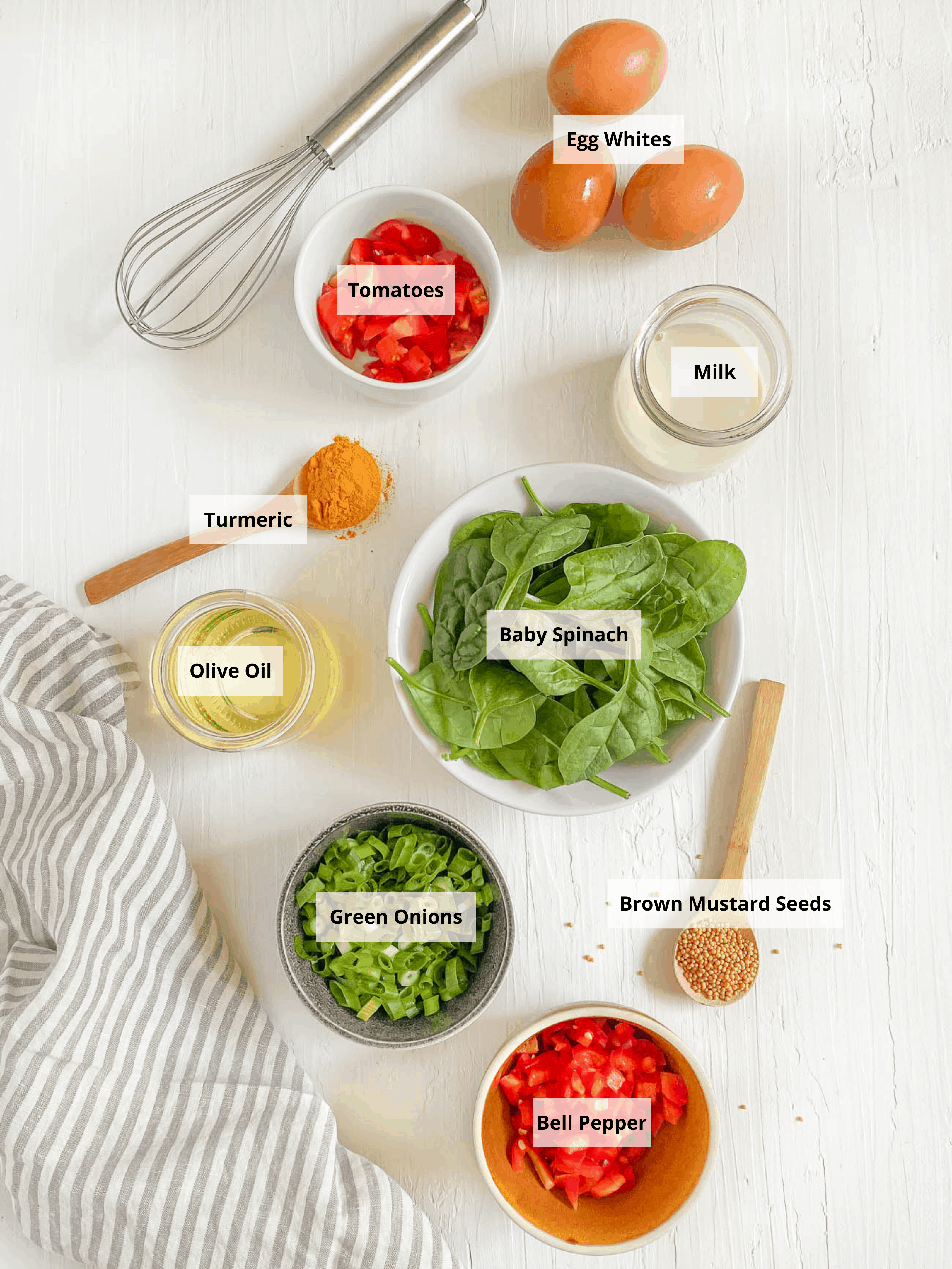 ingredients for low calorie omelette