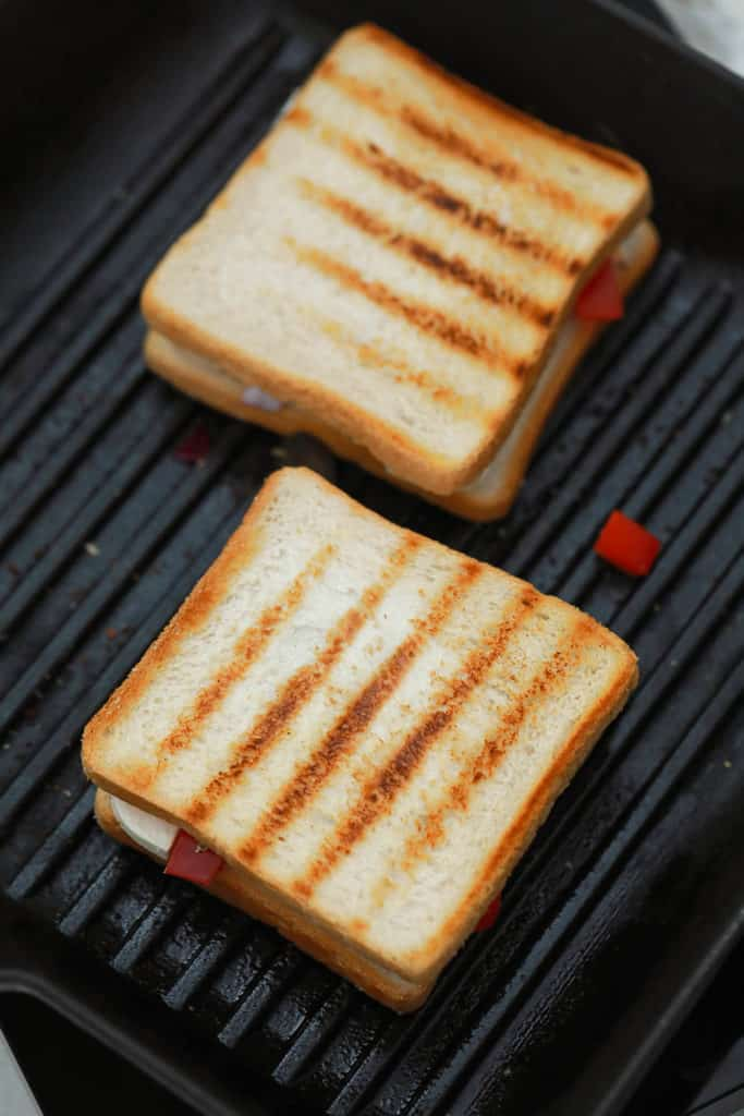 paninis on a grill top