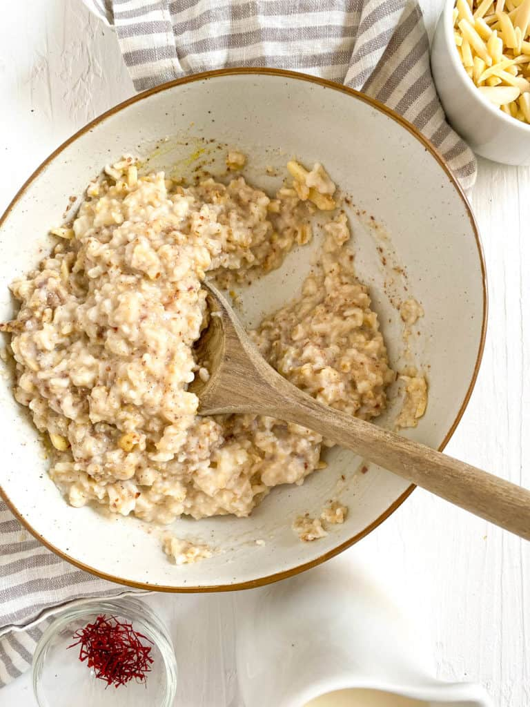 stirred up oats in a bowl