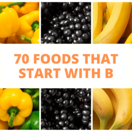 foods that start with b sign