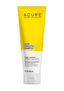 Acure Ultra Hydrating shampoo bottle.
