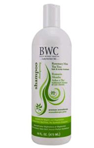 Bottle of BWG shampoo.
