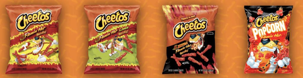are hot cheetos vegan, photo of flamin hot cheetos