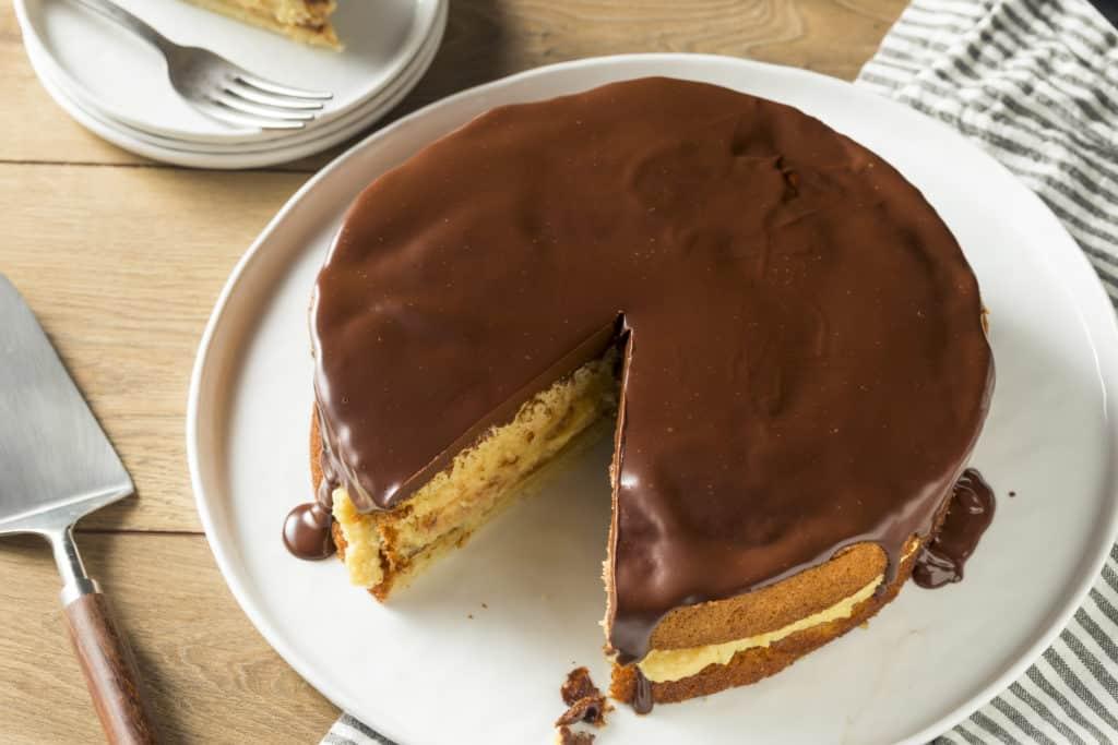 foods that start with b - boston cream pie