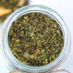 how to dry basil in the oven - dried basil in a mason jar
