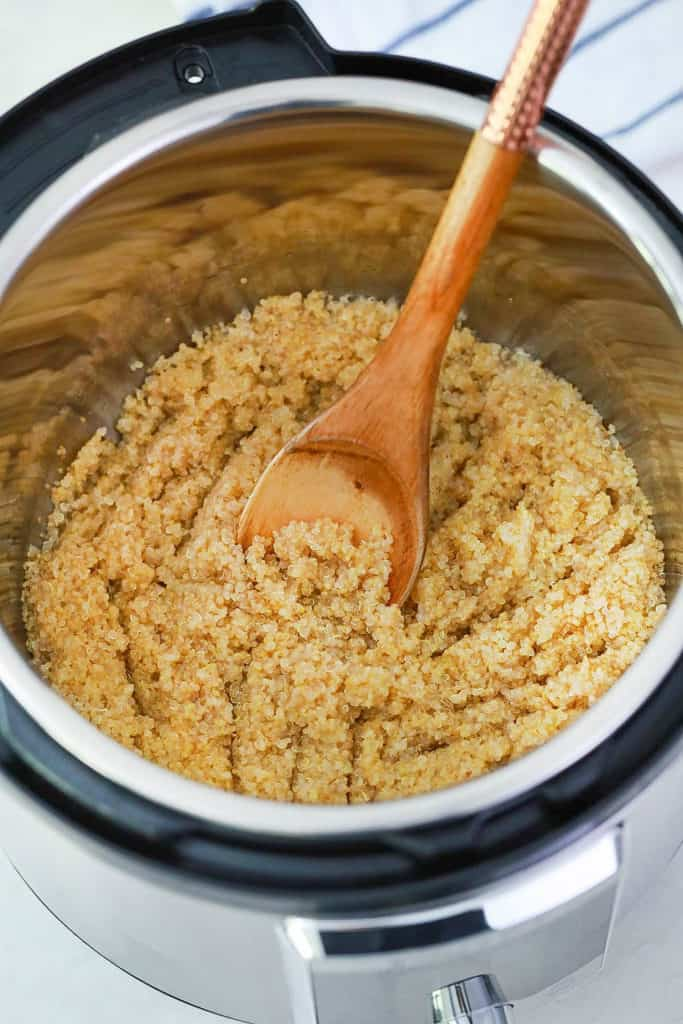 quinoa cooked in instant pot