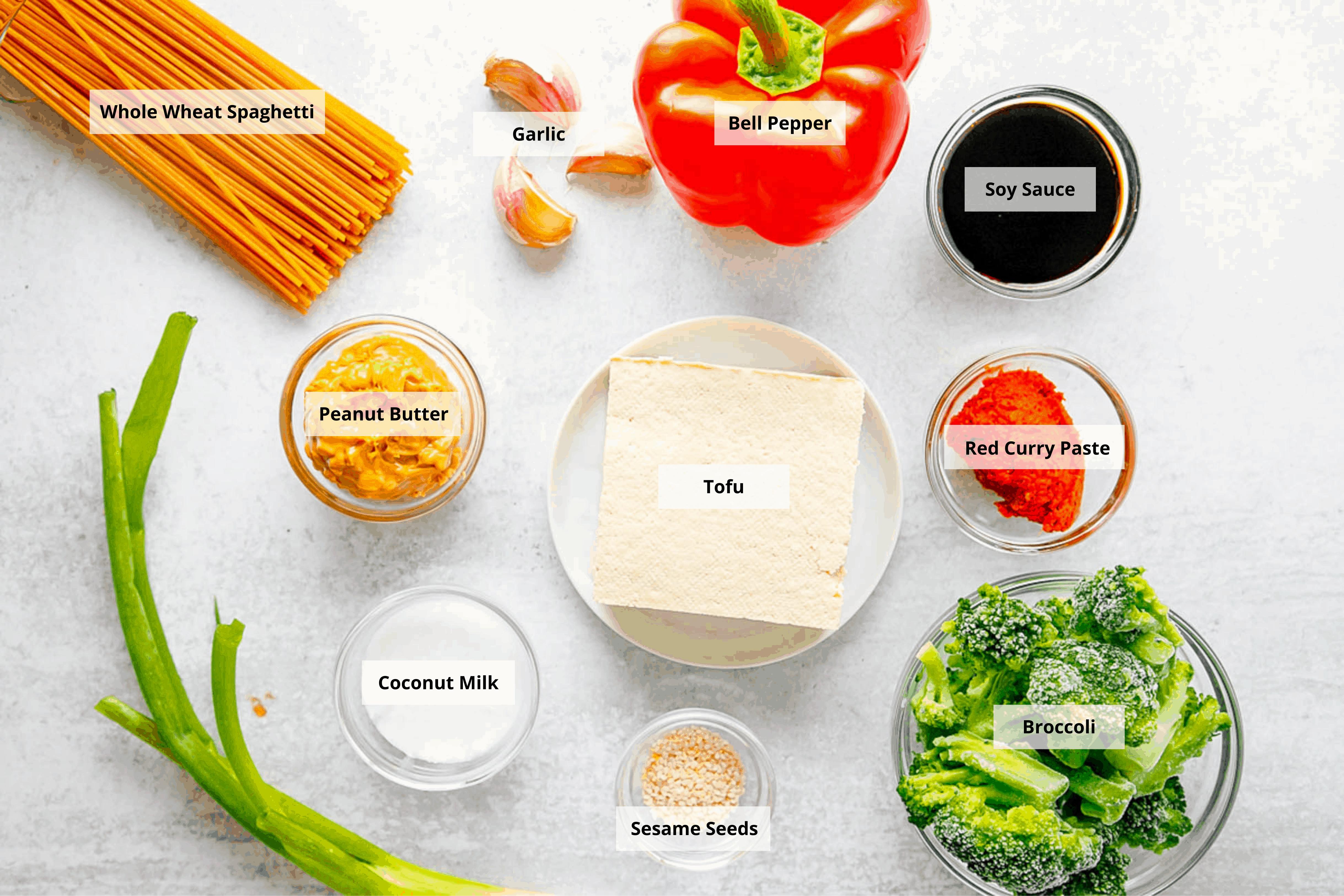 ingredients for peanut sauce for noodles