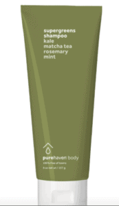 Pure Haven Supergreens Shampoo bottle